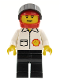 Minifig No: shell006  Name: Shell - Jacket, Black Legs, Red Helmet, Black Visor