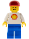 Minifig No: shell010  Name: Shell - Classic - Blue Legs, Red Cap