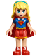 Minifig No: shg006  Name: Supergirl - Red Skirt (41232)