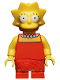 Minifig No: sim010  Name: Lisa Simpson with Wide Open Eyes - Minifig only Entry