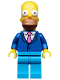 Minifig No: sim028  Name: Homer Simpson with Tie and Jacket - Minifig only Entry