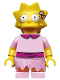 Minifig No: sim030  Name: Lisa Simpson with Bright Pink Dress - Minifig only Entry