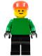 Minifig No: soc011  Name: Soccer Player Red/White Team Goalie