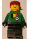 Minifig No: soc011s02  Name: Soccer Player - Belgian Goalie, Belgian Flag Torso Sticker on Front, White Number Sticker on Back (1, 18 or 22, specify number in listing)