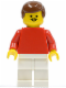 Minifig No: soc018  Name: Soccer Player Red/White Team Player 1