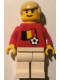 Minifig No: soc024s02  Name: Soccer Player - Belgian Player 2, Belgian Flag Torso Sticker on Front, Black Number Sticker on Back (specify number in listing)