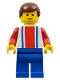Minifig No: soc035  Name: Soccer Player Red & Blue Team #10 on Back