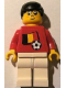 Minifig No: soc040s02  Name: Soccer Player - Belgian Player 5, Belgian Flag Torso Sticker on Front, Black Number Sticker on Back (specify number in listing)