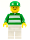 Minifig No: soc046  Name: Soccer Fan Green & White Team, Green Cap