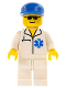 Minifig No: soc057  Name: Doctor - EMT Star of Life, White Legs, Blue Cap