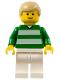Minifig No: soc059  Name: Soccer Player Green & White Team #18 on Back