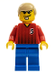 Minifig No: soc063  Name: Soccer Player Red/Blue Team with shirt  #5