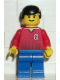 Minifig No: soc065  Name: Soccer Player Red/Blue Team with shirt  #8
