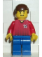 Minifig No: soc069  Name: Soccer Player Red/Blue Team with shirt #14