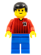 Minifig No: soc070  Name: Soccer Player Red/Blue Team with shirt #18