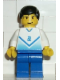 Minifig No: soc081  Name: Soccer Player White & Blue Team with shirt  #2