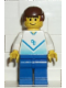 Minifig No: soc082  Name: Soccer Player White & Blue Team with shirt  #4