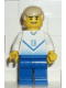 Minifig No: soc084  Name: Soccer Player White & Blue Team with shirt #10