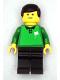 Minifig No: soc112s  Name: Soccer Referee Green, Line - Black Legs, White Flag Torso Sticker (Shell)
