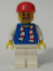 Minifig No: soc114s  Name: Soccer Fan Blue - White Legs, Striped Scarf Torso Sticker (3569)