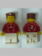 Minifig No: soc118s  Name: Soccer Player Red - Adidas Logo, Red and White Torso Stickers (#2)