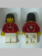Minifig No: soc121s  Name: Soccer Player Red - Adidas Logo, Red and White Torso Stickers (#9)