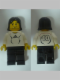 Minifig No: soc127s  Name: Soccer Player White - Adidas Logo, White and Black Torso Stickers (#10)