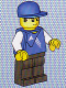 Minifig No: soc128s  Name: Soccer Goalie - Adidas Logo Blue Torso Stickers (#8)