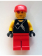 Minifig No: soc130s  Name: Soccer Goalie - Adidas Logo Black Torso Stickers (#20)