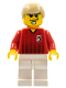 Minifig No: soc135  Name: Soccer Player Red/White Team with shirt  #5