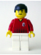 Minifig No: soc136  Name: Soccer Player Red/White Team with shirt  #8