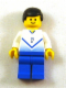 Minifig No: soc140  Name: Soccer Player White & Blue Team with shirt  #7