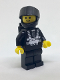 Minifig No: sp001new  Name: Blacktron 1 Reissue with Yellow Hands (5000440)