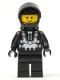 Minifig No: sp001new2  Name: Blacktron 1 Reissue with Black Hands