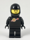 Minifig No: sp003new2  Name: Classic Space - Black with Airtanks and Modern Helmet, Logo High on Torso (Second Reissue)
