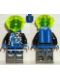 Minifig No: sp023  Name: Insectoids - blue circuits w/ white lighting bolts, printed legs