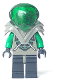 Minifig No: sp030  Name: Insectoids - green verniers w/ silver X pattern, Dark Gray Armor