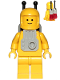 Minifig No: sp053b  Name: Classic Space - Yellow with Light Gray Jet Pack and Trans Red Cones