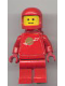 Minifig No: sp064  Name: Classic Space - Red with Airtanks, Stickered Torso Pattern