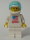Minifig No: sp065  Name: Shuttle Astronaut with NASA Sticker on Torso