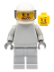 Minifig No: sp088  Name: Star Justice Astronaut 3 - without Torso Sticker (beard around mouth)