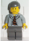 Minifig No: spd010  Name: Scientist With Open Jacket, Black and Brown Stripe Tie and Plaid Shirt