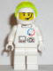 Minifig No: splc003  Name: Launch Command - Astronaut, Helmet, Trans-Neon Green Visor