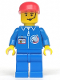 Minifig No: splc004  Name: Launch Command - Crew, Red Cap