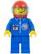 Minifig No: splc005  Name: Launch Command - Crew, Red Helmet, Trans-Light Blue Visor
