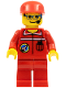 Minifig No: spp007  Name: Space Port - Ground Control, Red Cap