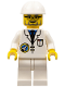 Minifig No: spp014  Name: Space Port - Scientist, White Construction Helmet, White Legs
