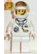 Minifig No: spp016  Name: Space Port - Astronaut C1, White Legs, White Helmet, Gold Large Visor