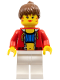 Minifig No: stu010  Name: Female with Crop Top and Navel Pattern (Blank Back)