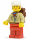Minifig No: stu012  Name: Pippin Read (Actress) - Red Legs, White Cap